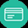 circular seamless merchant logo with white check on green background